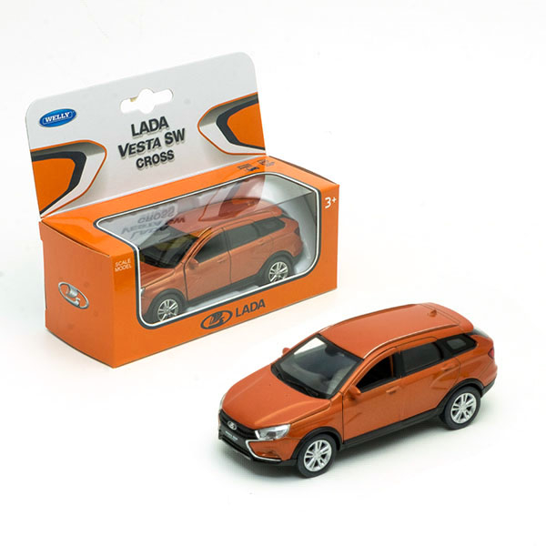 Машинка Welly Lada Vesta SW Cross, 1:34-39 машинка welly lada vesta sw cross 1 34 39