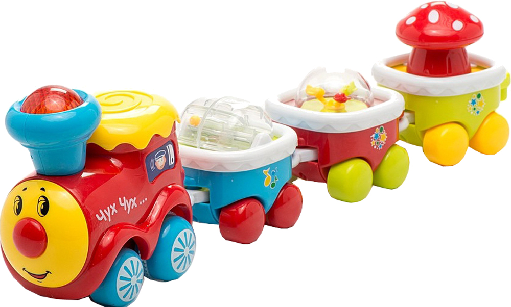 Музыкальные игрушки Умка Музыкальный паровозик развивающая игрушка zhorya веселый паровозик белый паравоз с желто синей трубой