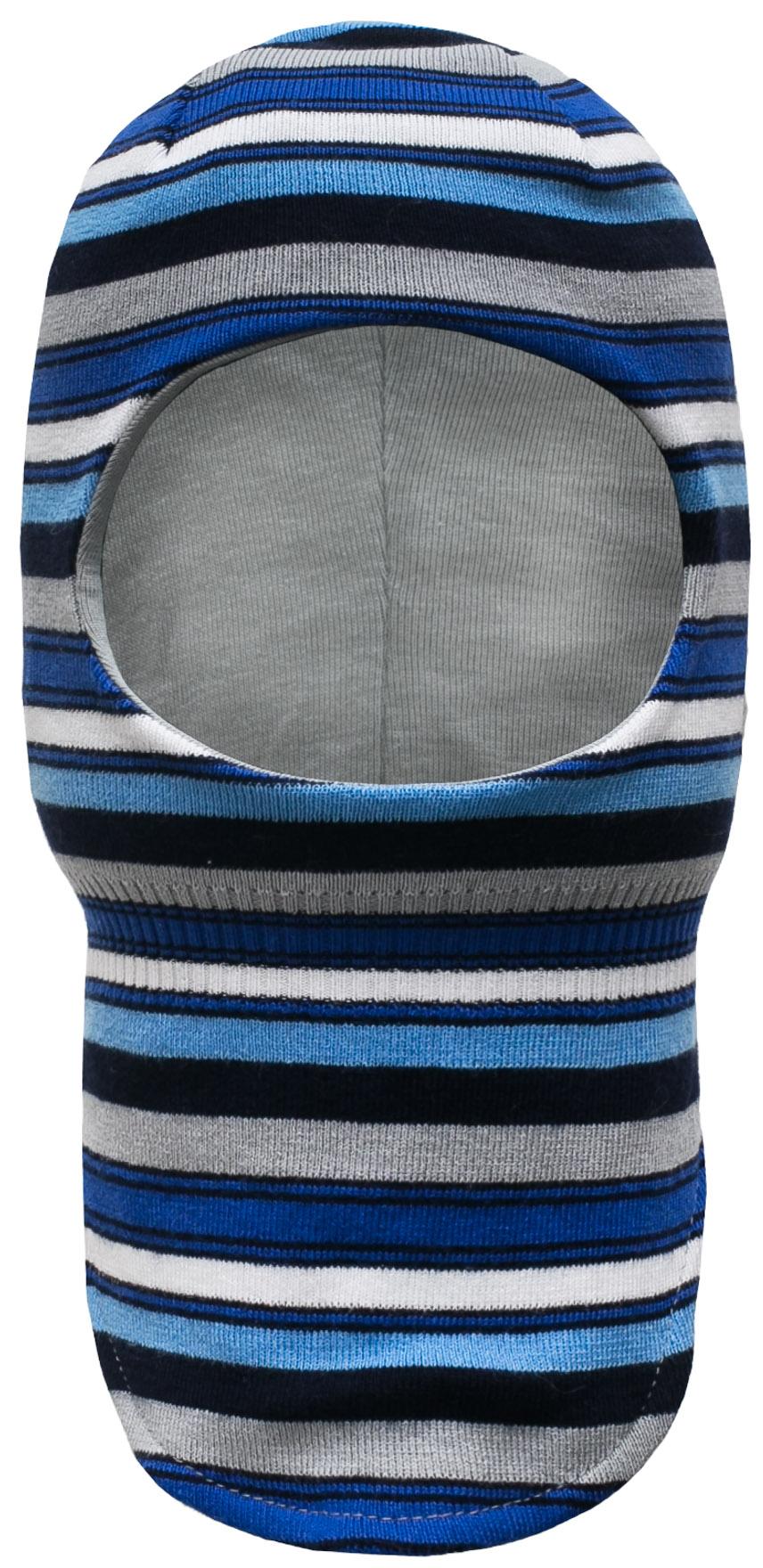 Купить Головные уборы, Шапка-шлем для мальчика Barkito, синий с рисунком «полоска», Россия, синий, в полоску, Мужской