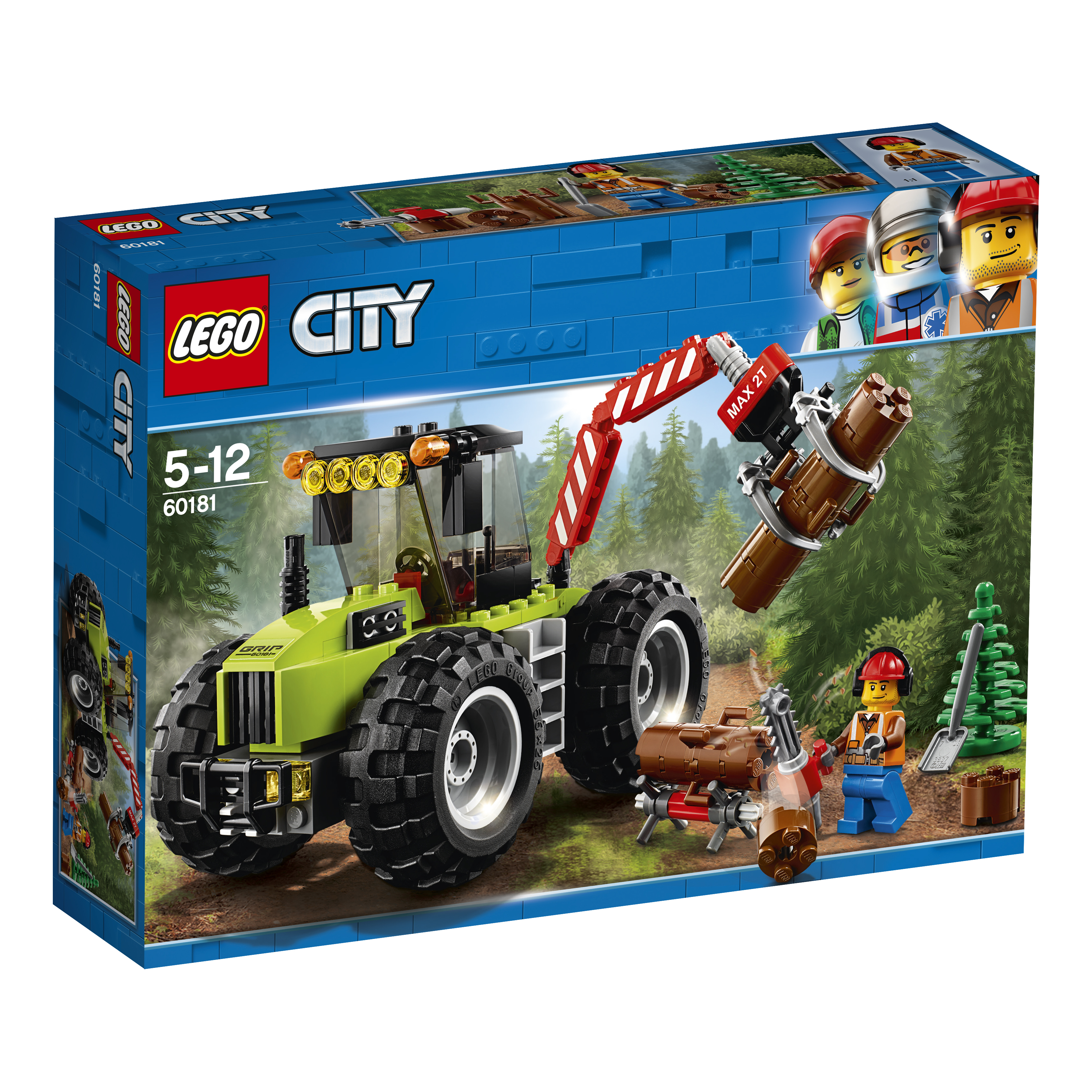 Конструктор LEGO City Great Vehicles 60181 Лесной трактор lego lego city great vehicles 60178 гоночный автомобиль