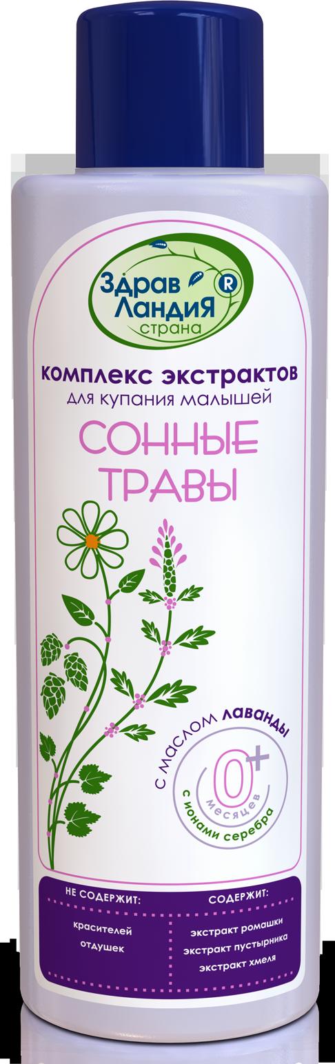 Соли и экстракты Страна Здравландия Сонные травы для купания малышей 250 мл пустырника экстракт 14мг 10 таблетки