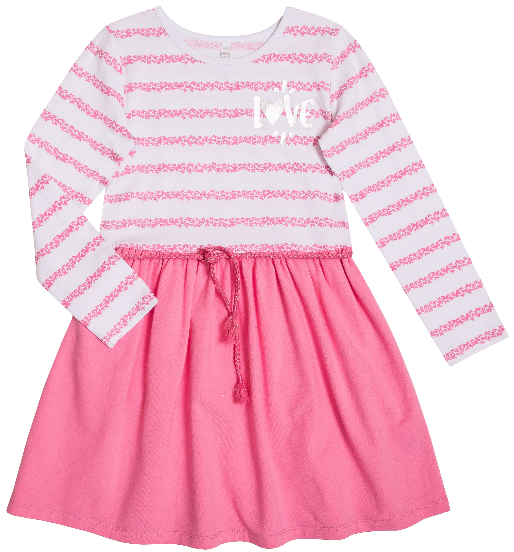 Платье детское Barkito Весенние бабочки, белое с розовым платья barkito платье без рукавов barkito алоха гавайи белое