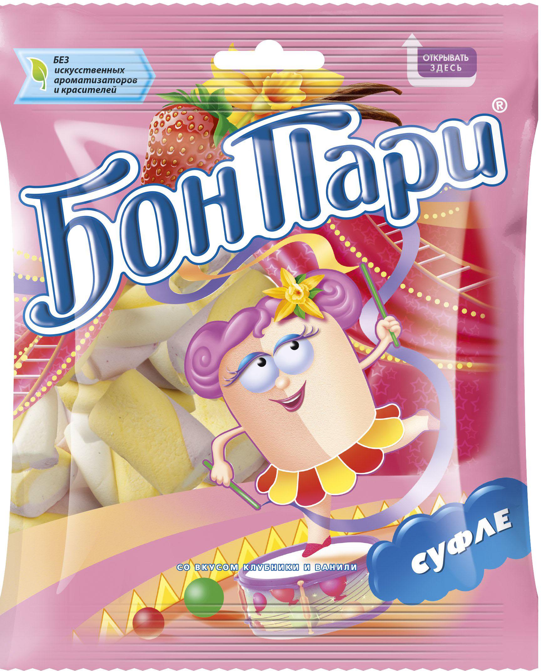 Десерты Бон Пари Суфле Бон Пари 90 г бон пари забавный медвежонок мармелад жевательный фигурный 150 г