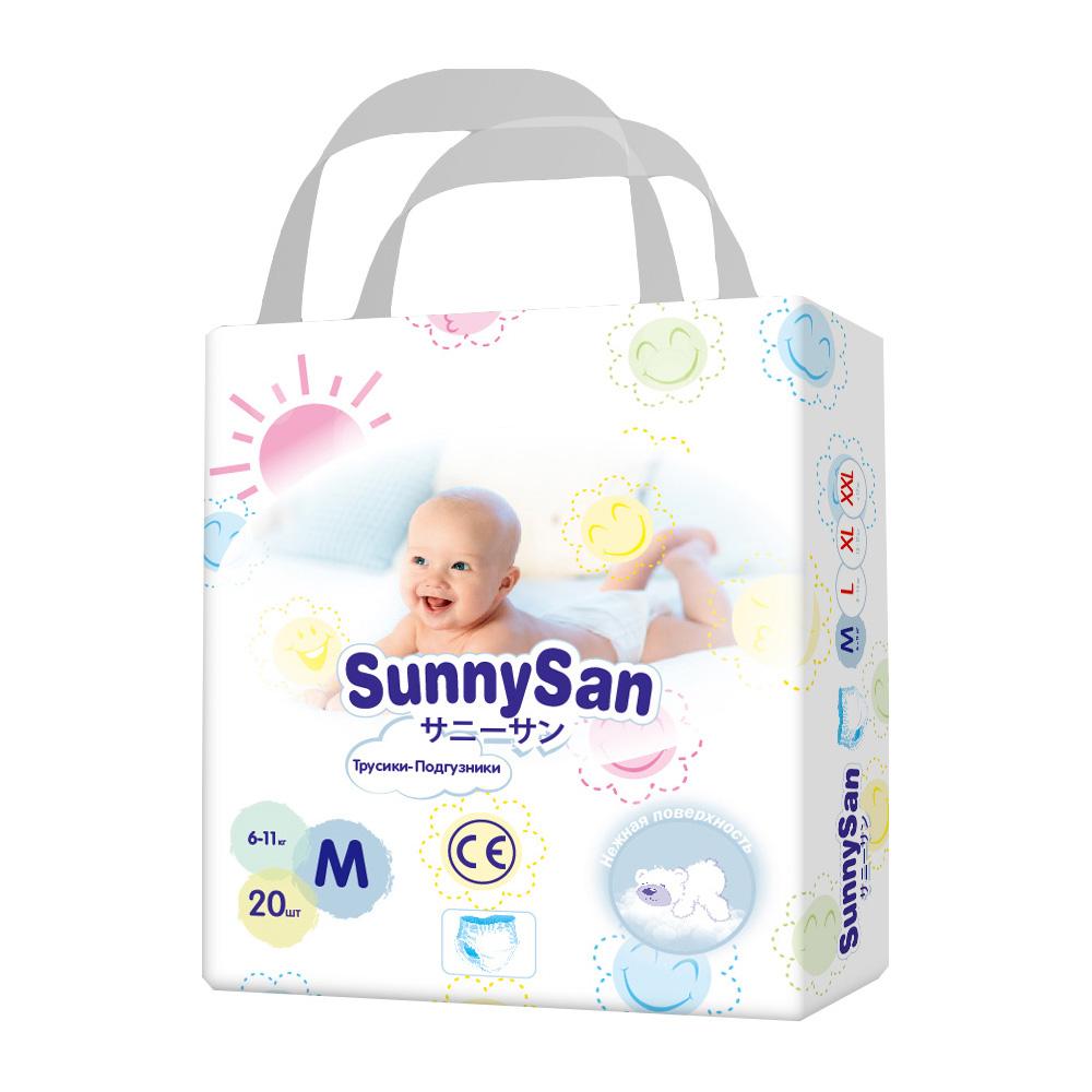 Трусики-подгузники SunnySan M (6-11 кг) 20 шт.