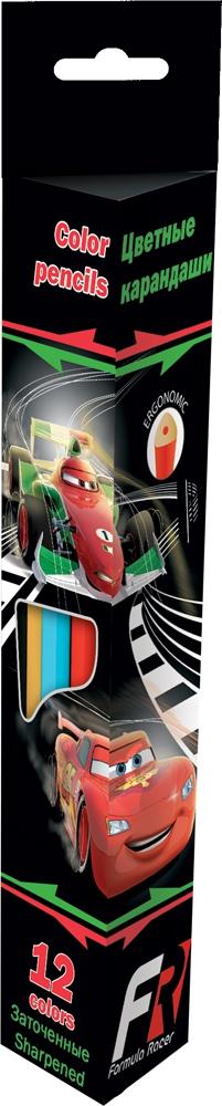 Набор цветных карандашей Cars Треугольные 12 шт