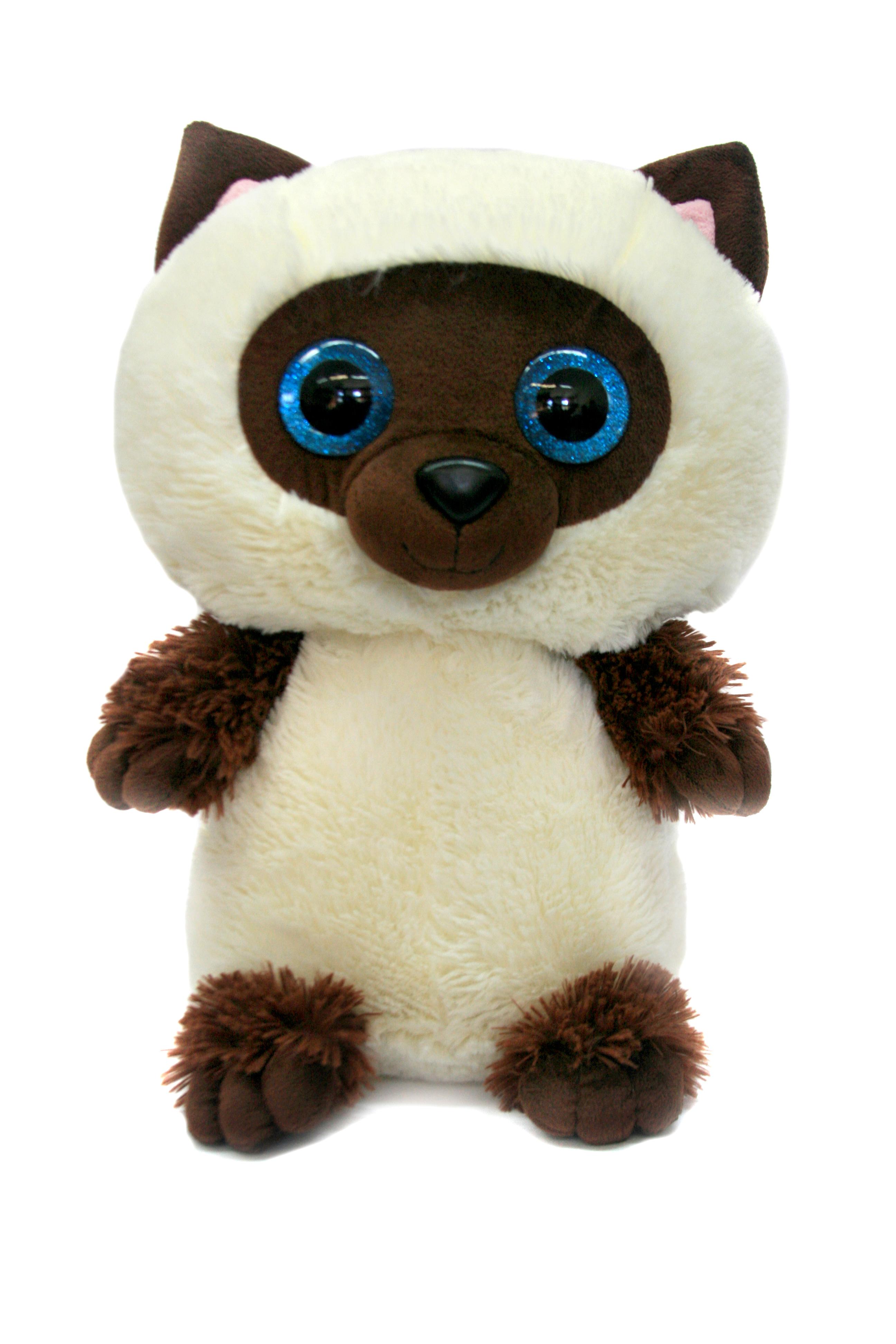 Мягкие игрушки СмолТойс Мягкая игрушка СмолТойс «Котенок глазастик» 35 см игрушка арт 1805 36 мягкая игрушка котенок трехшерстный м