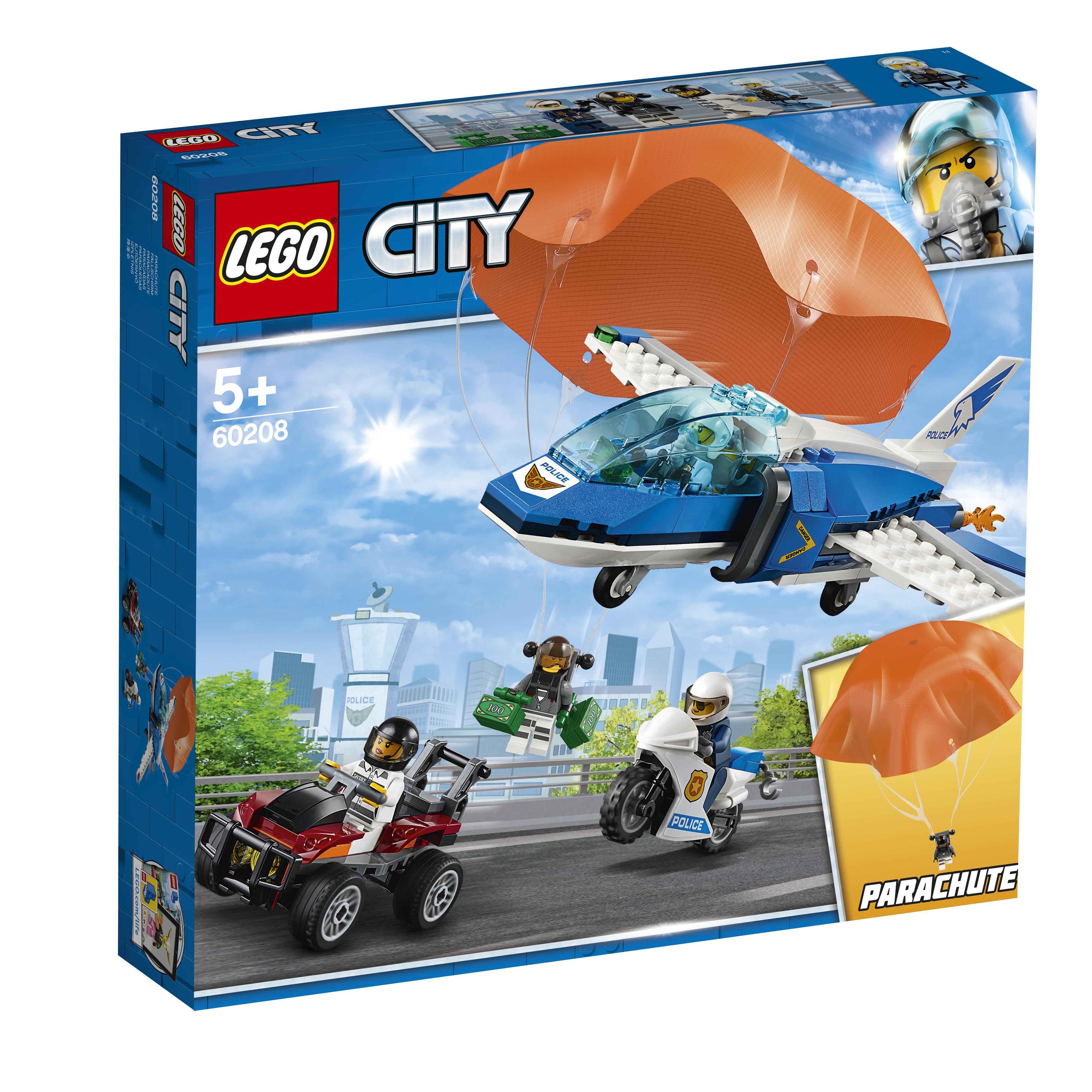 Конструктор LEGO City Police 60208 Воздушная полиция: арест парашютист конструктор lego city police воздушная полиция патрульный самолет 60206