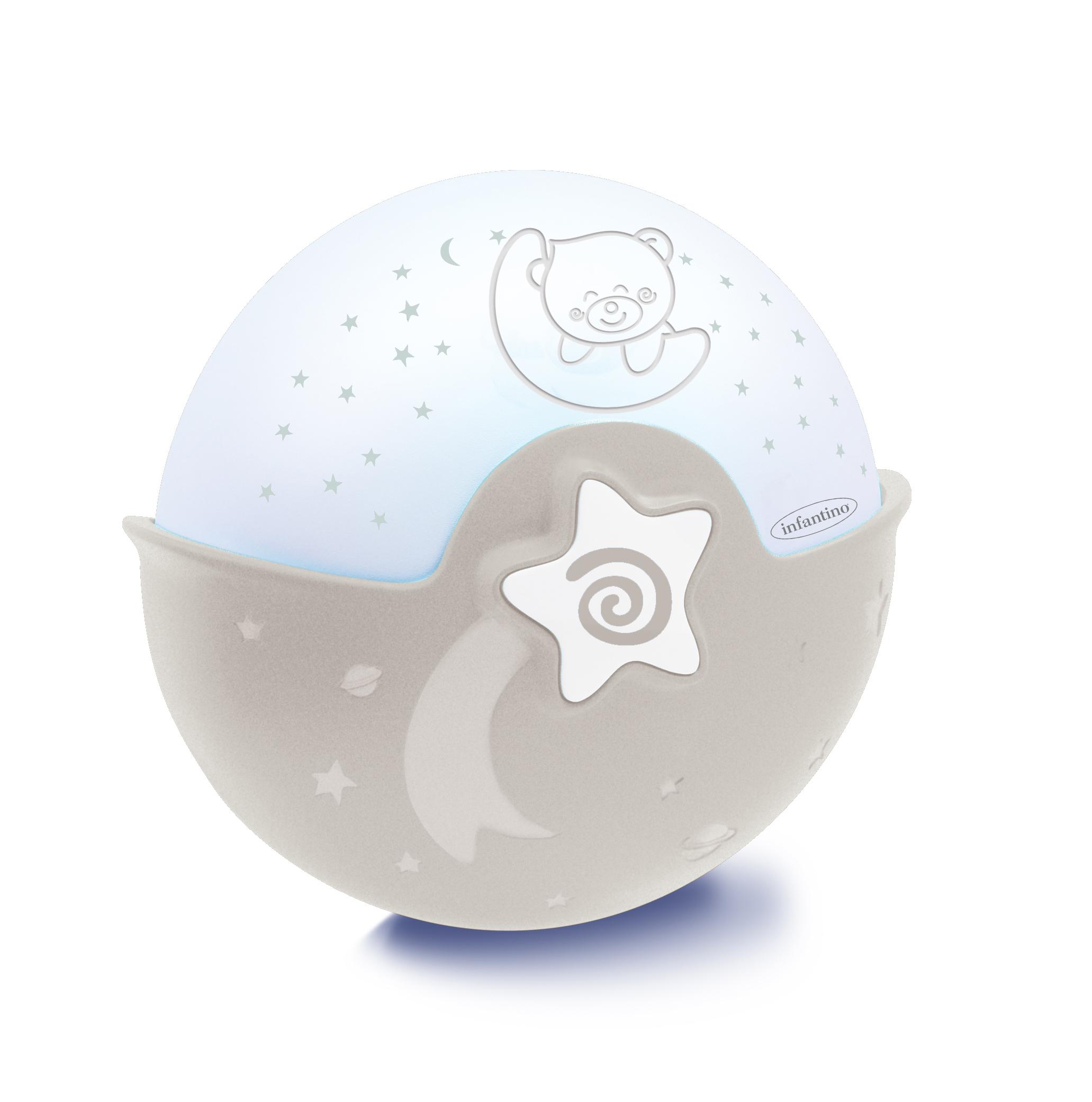 Освещение Infantino Ночник-проектор Infantino серый/бежевый