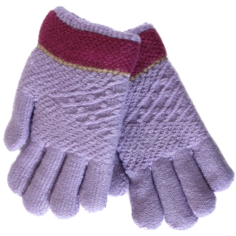 Перчатки детские Принчипесса Двухслойные, сиреневые