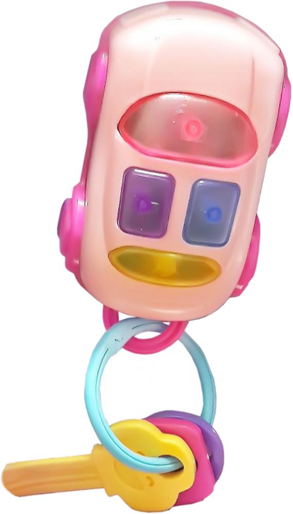 Развивающая игрушка 1toy Автоключики с машинкой автоключики для мальчика свет звук цвет желтый зеленый 1 toy