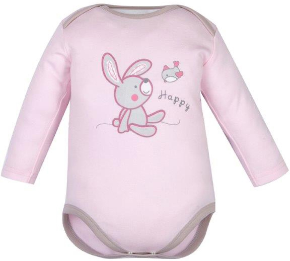 Первые вещи новорожденного Barkito Зайчонок длинный рукав розовый