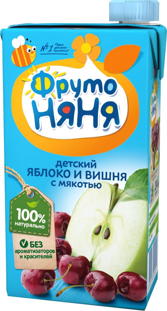 Нектар Прогресс ФрутоНяня Яблоко и вишня с мякотью с 3 лет 500 мл сок фрутоняня яблоко и абрикос с мякотью с 3 лет 500 мл