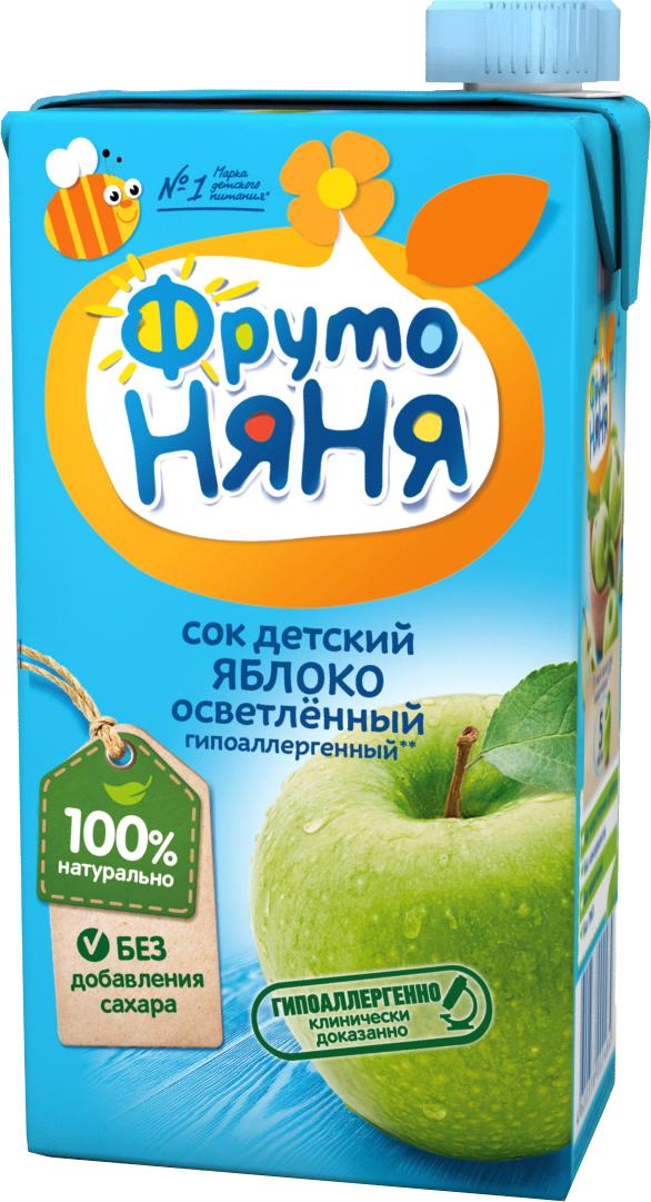 Сок Прогресс ФрутоНяня Яблоко с 3 лет 500 мл сок фрутоняня яблоко и абрикос с мякотью с 3 лет 500 мл