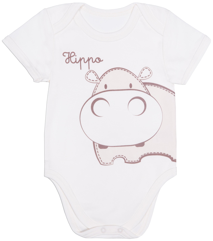 Первые вещи новорожденного Barkito Бегемотики боди и песочники spasilk боди короткий рукав ons3p02 ons3p03 3 шт