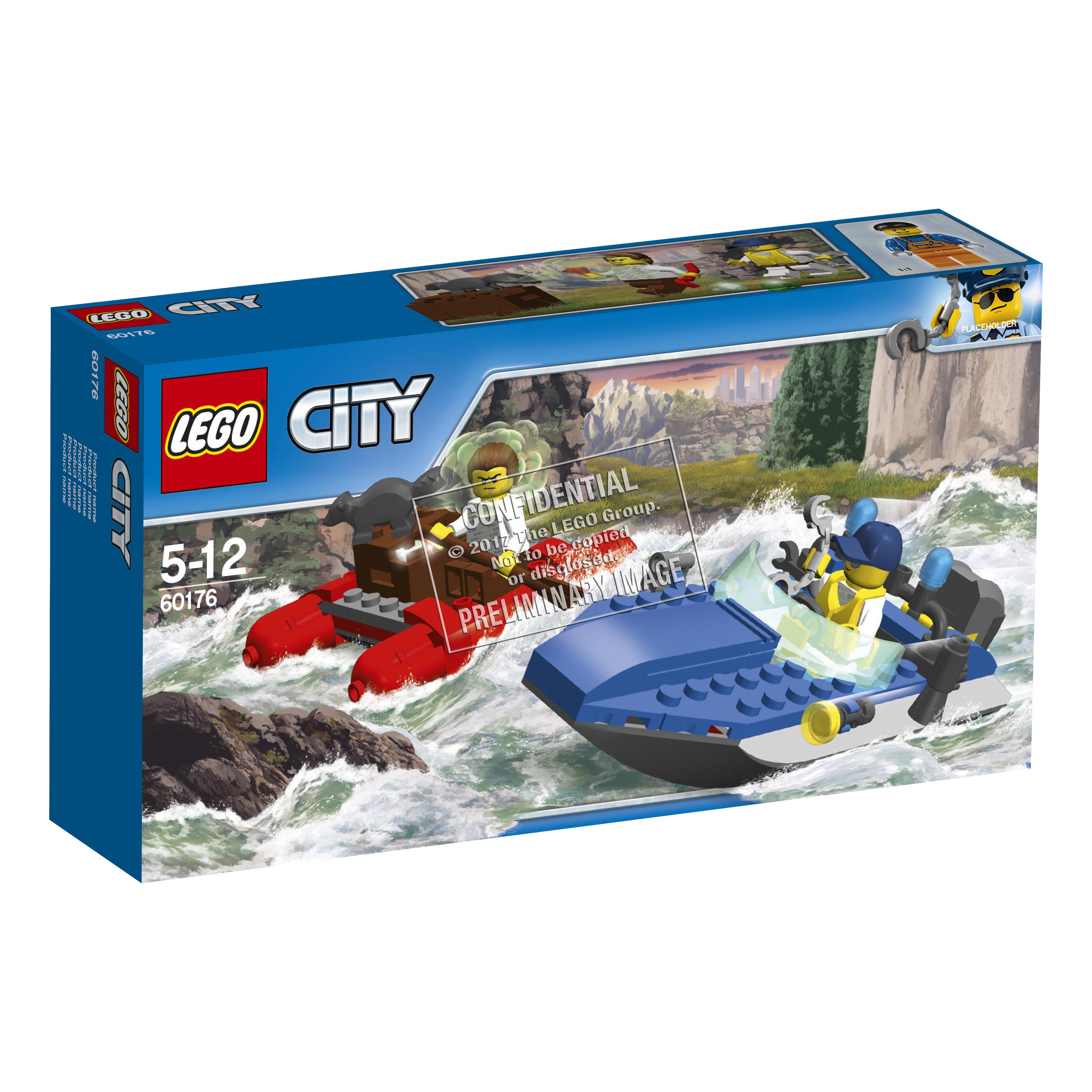 Конструктор LEGO City Police 60176 Погоня по горной реке конструктор lego city police 60174 полицейский участок в горах
