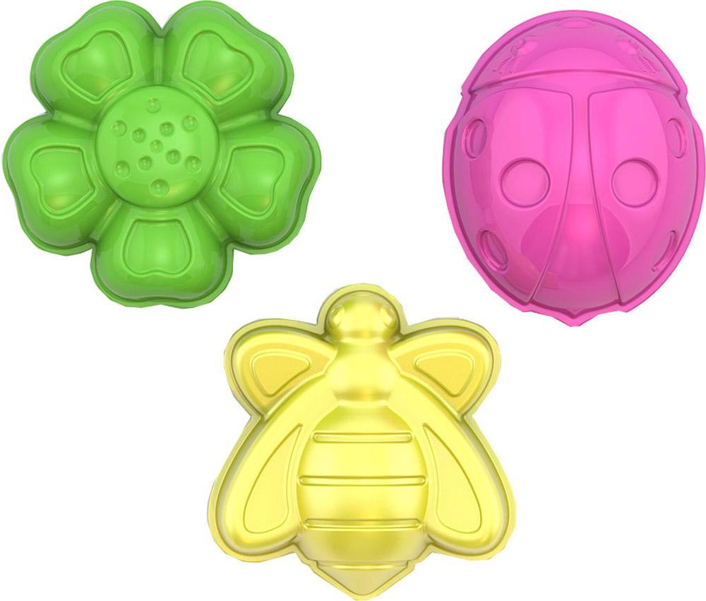 формочки игрушечные нордпласт формочка игрушечная Формочки Нордпласт Божья коровка, пчелка, цветочек