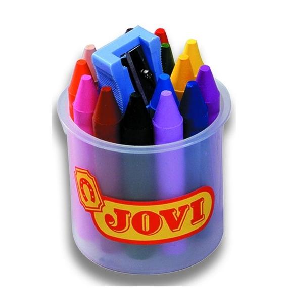 Ручки и карандаши Jovi Карандаши восковые Jovi с точилкой 16 цв. карандаши восковые мелки пастель berlingo карандаши замки 18 цветов