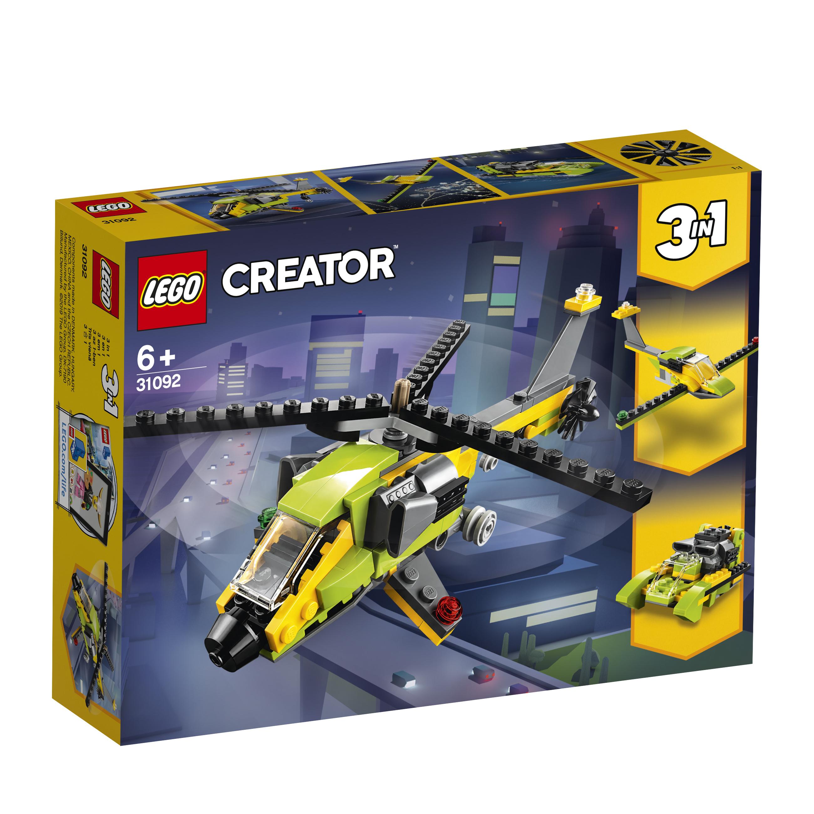 Купить LEGO, Creator 31092 Приключения на вертолёте, пластмасса, Мужской