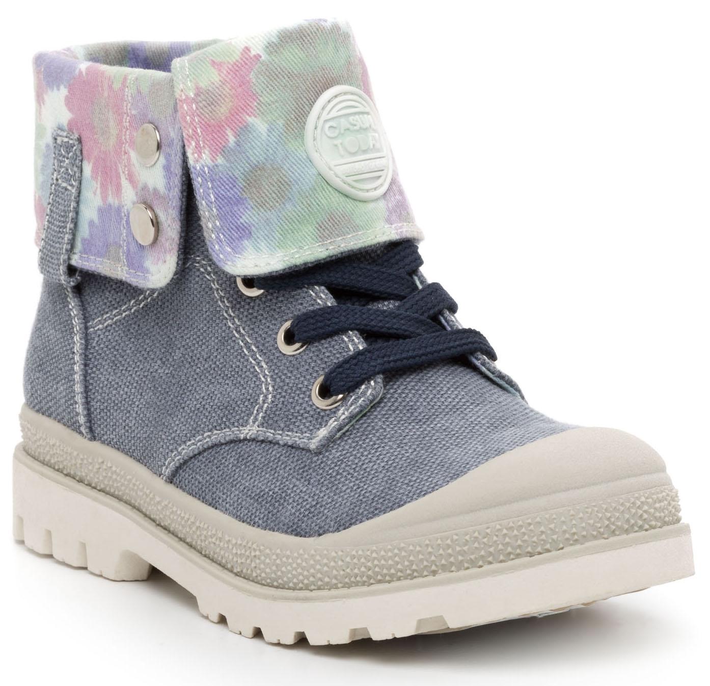 Купить Ботинки и полуботинки, Ботинки для девочки Barkito, серо-голубые, Китай, серо-голубой, Женский