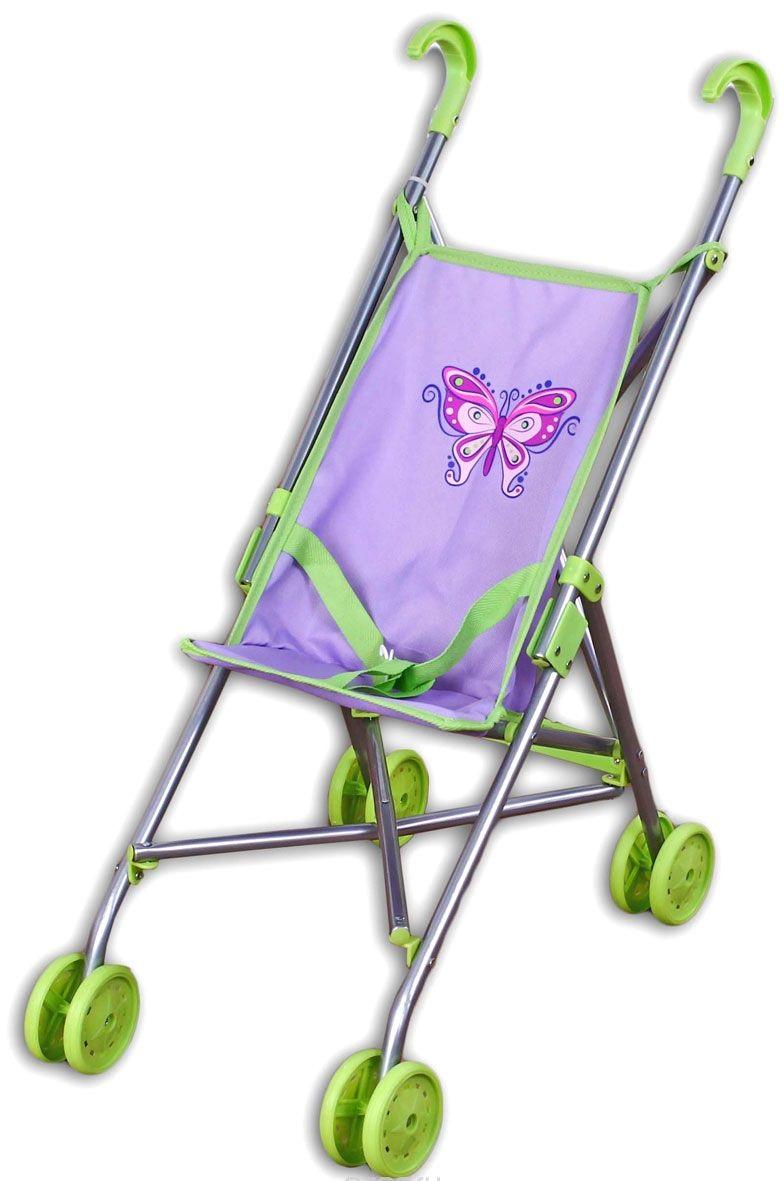 Фото - коляска-трость для куклы Наша игрушка Бабочка коляска прогулочная everflo safari grey e 230 luxe