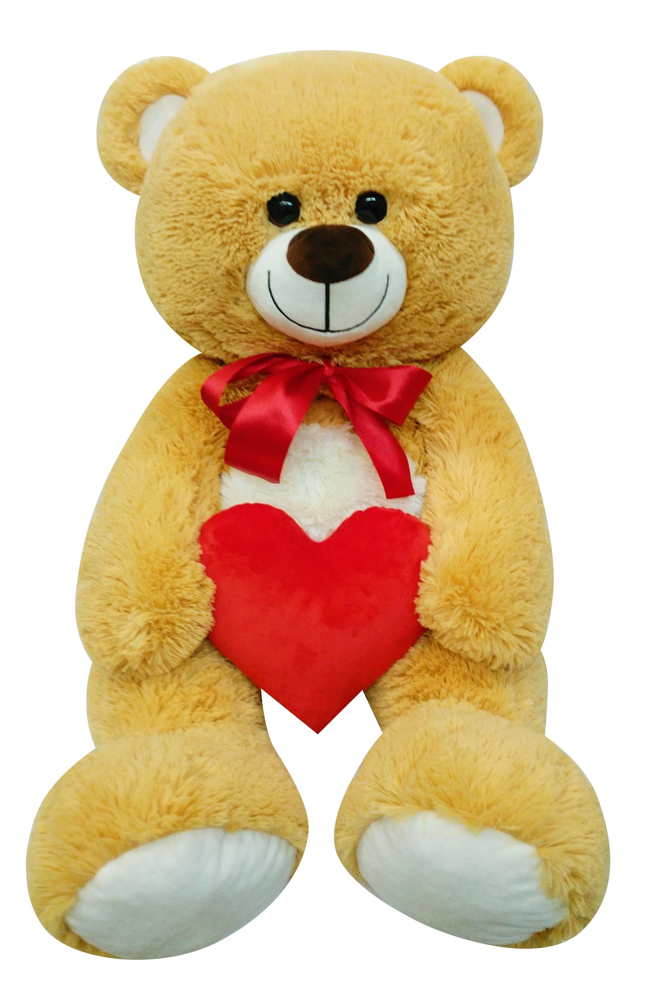Мягкие игрушки СмолТойс Медвежонок Валентин 95 см