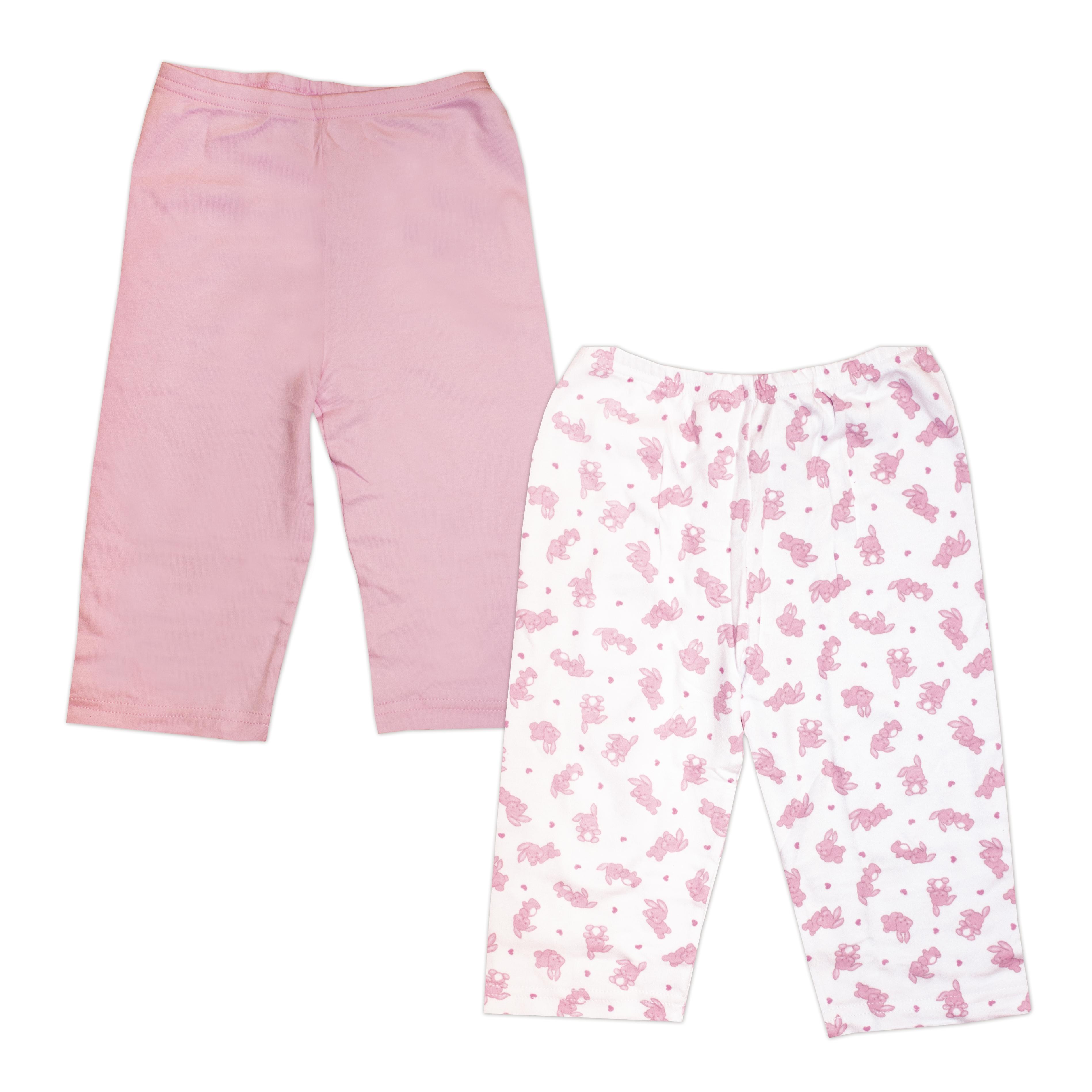 Первые вещи новорожденного BARQUITO Штанишки интерлок Barquito 2 шт. Розовые невидимка для волос funny bunny розовые цветы 2 шт