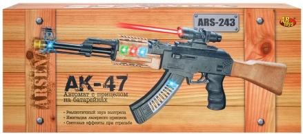 Купить Пистолеты и ружья, с прицелом АК-47, ABtoys, Китай, черный, коричневый, Мужской