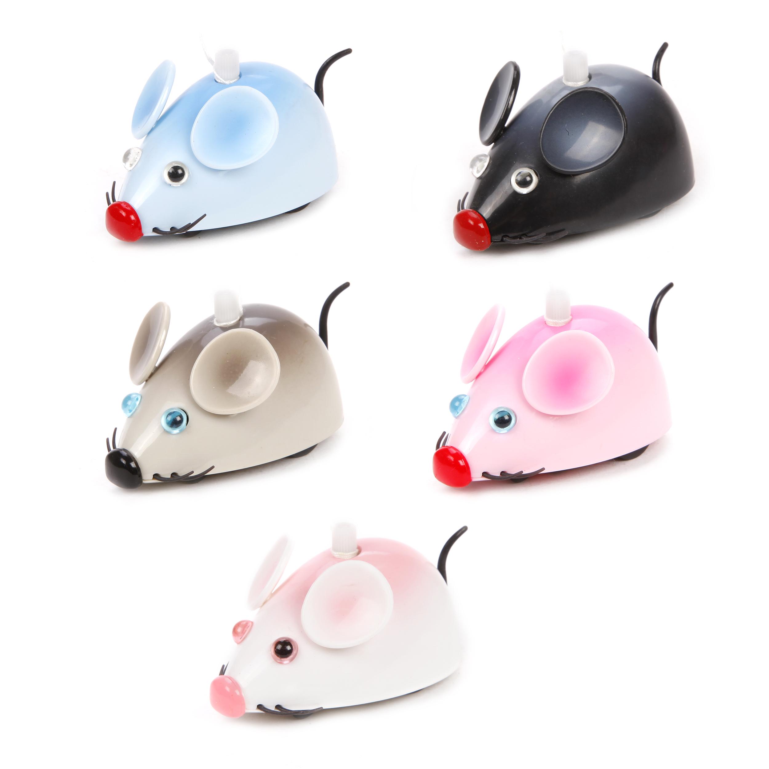 Купить Заводная игрушка, Мышка 6 видов, в ассортименте., 1шт., Жирафики 68880, Китай