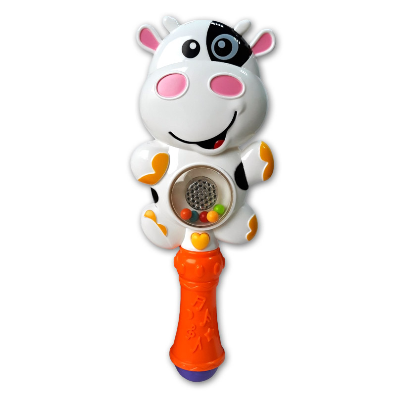 цена на Развивающая игрушка Азбукварик Зверюшка-погремушка. Му-му