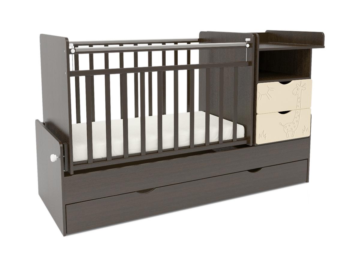 Кроватки детские СКВ-Компани 55003х Жираф