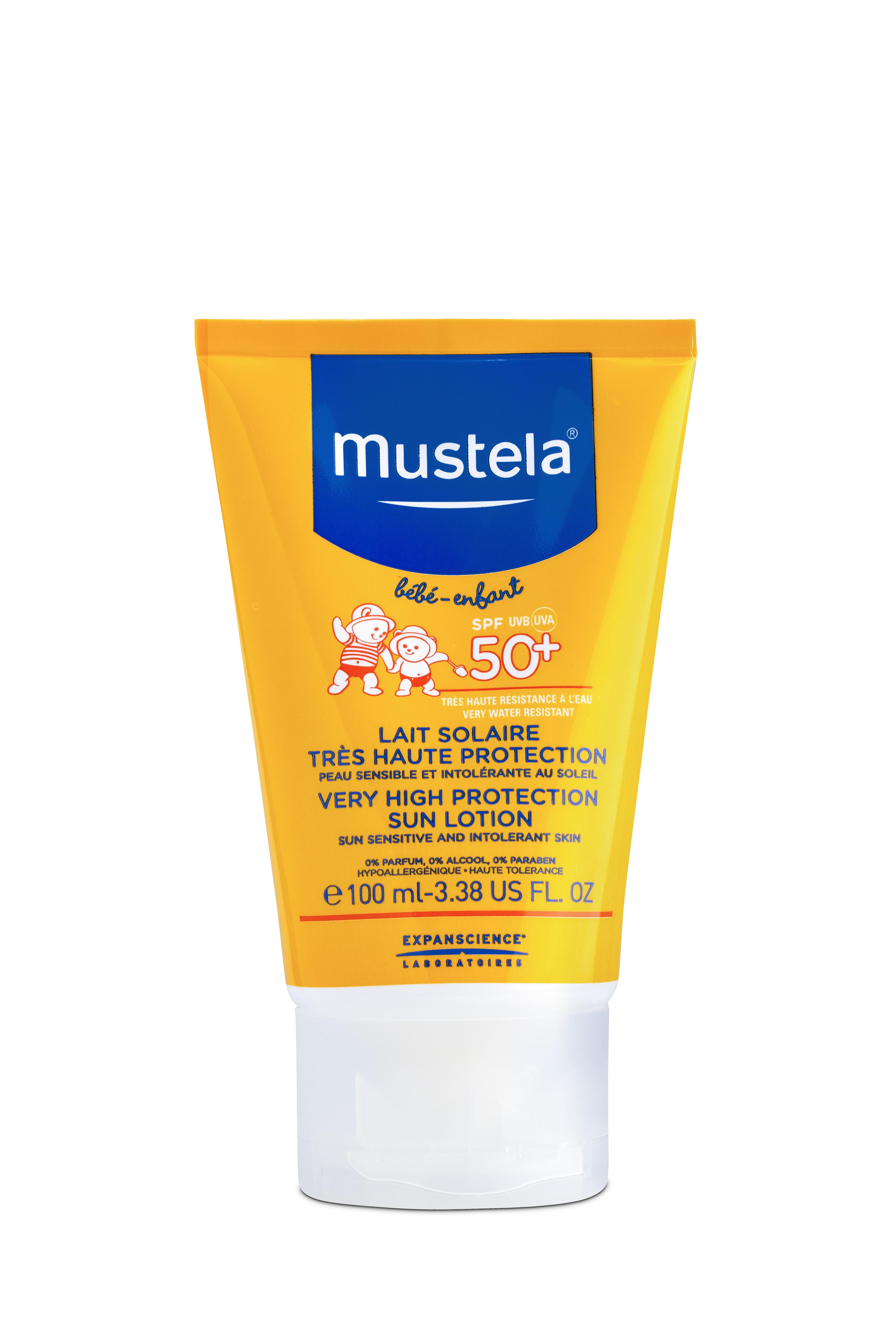 купить Молочко солнцезащитное Mustela SPF 50 недорого