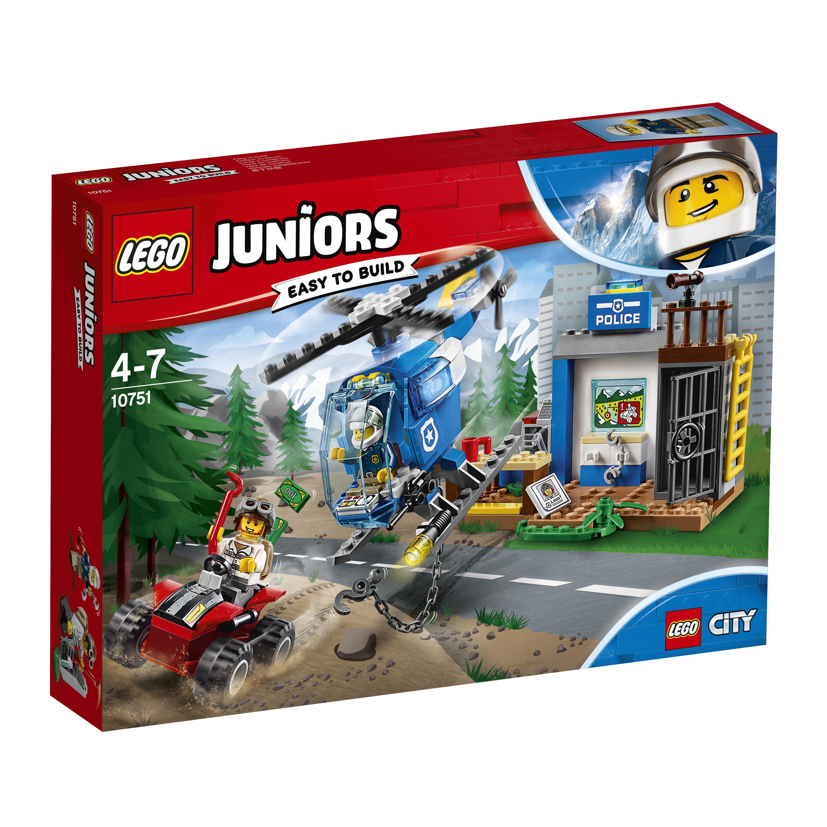 цена Конструктор LEGO Juniors 10751 Погоня горной полиции, 1шт.
