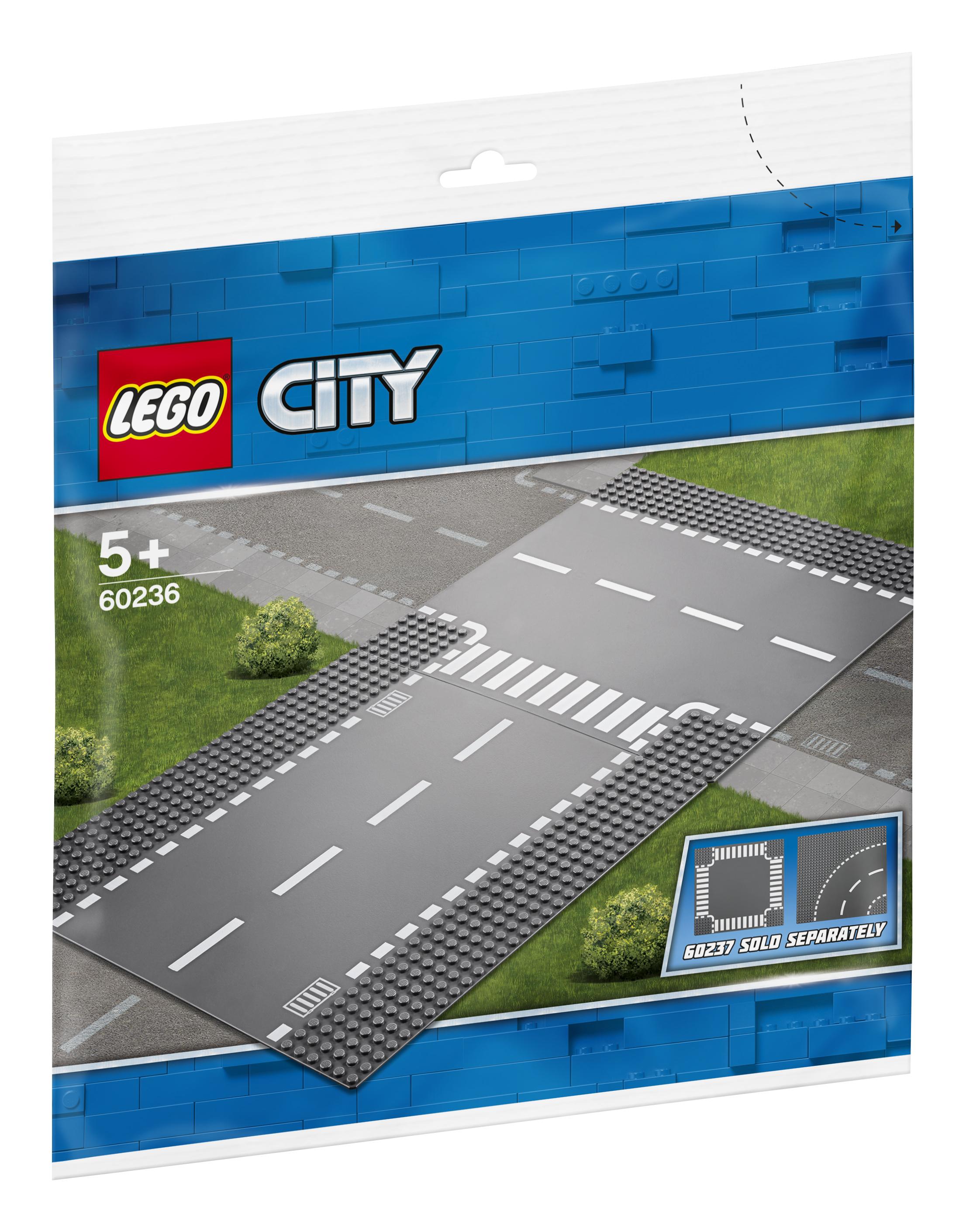 Конструктор LEGO City Supplementary 60236 Прямой и Т-образный перекрёсток lego city 60236 конструктор лего город прямой и т образный перекрёсток