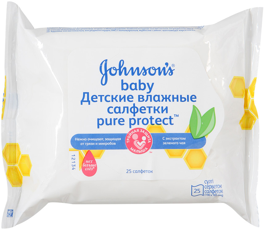 Прокладки и салфетки Johnson's baby Pure protect 25 шт. baby girl casual dress summer pure cotton 100