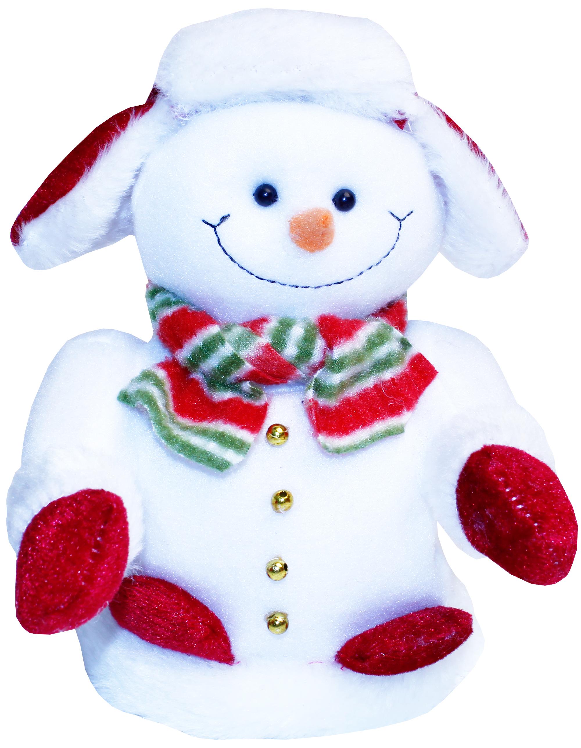 Игрушка Метелица Снеговик 19 см мягкая игрушка снеговик chl 500sm 28 см