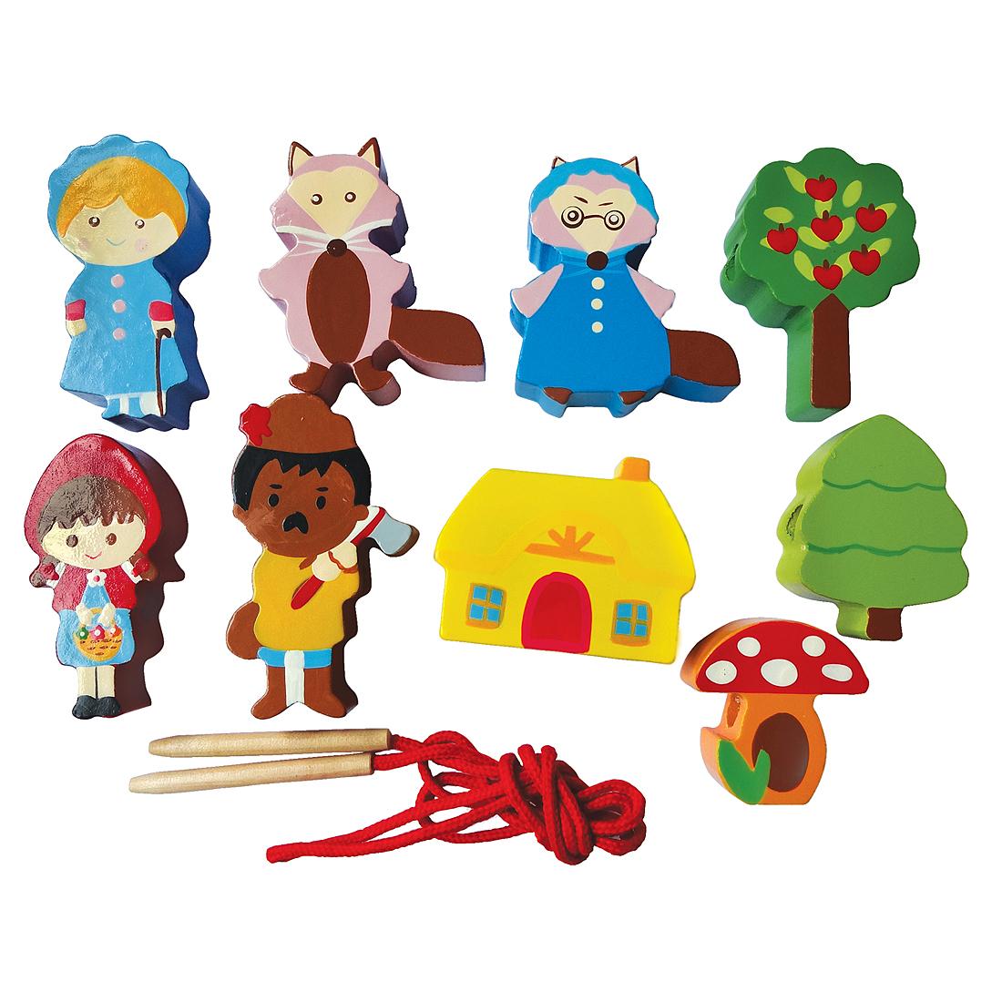 Деревянные игрушки Mapacha Красная шапочка деревянные игрушки mapacha лабиринт маленький
