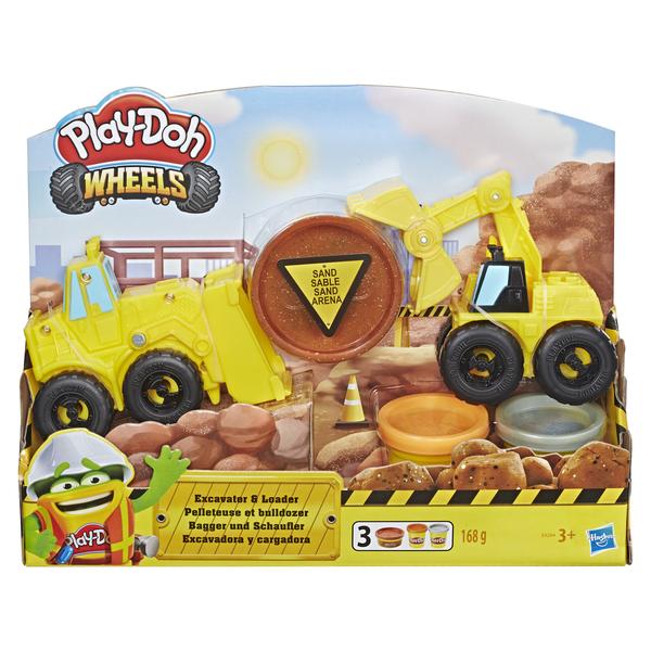 Игровой набор пластилина Play-Doh Экскаватор игровой набор для лепки play doh ведерочко геометрические фигуры