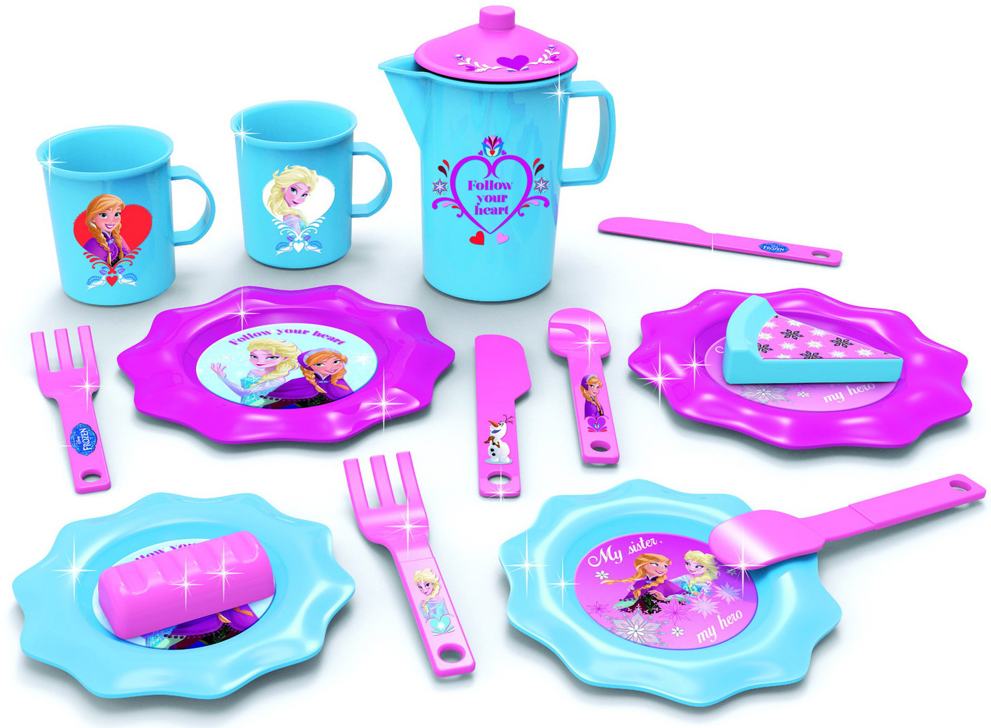 Посуда и наборы продуктов Bildo Игровой набор посуды для чая Bildo «Холодное сердце» 15 пр. набор посуды для детей stor холодное сердце олаф и свен