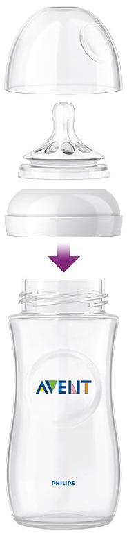 Бутылочки Philips AVENT Бутылочка для кормления Philips AVENT «Natural» с силиконовой соской c 1 мес. 260 мл 2 шт.