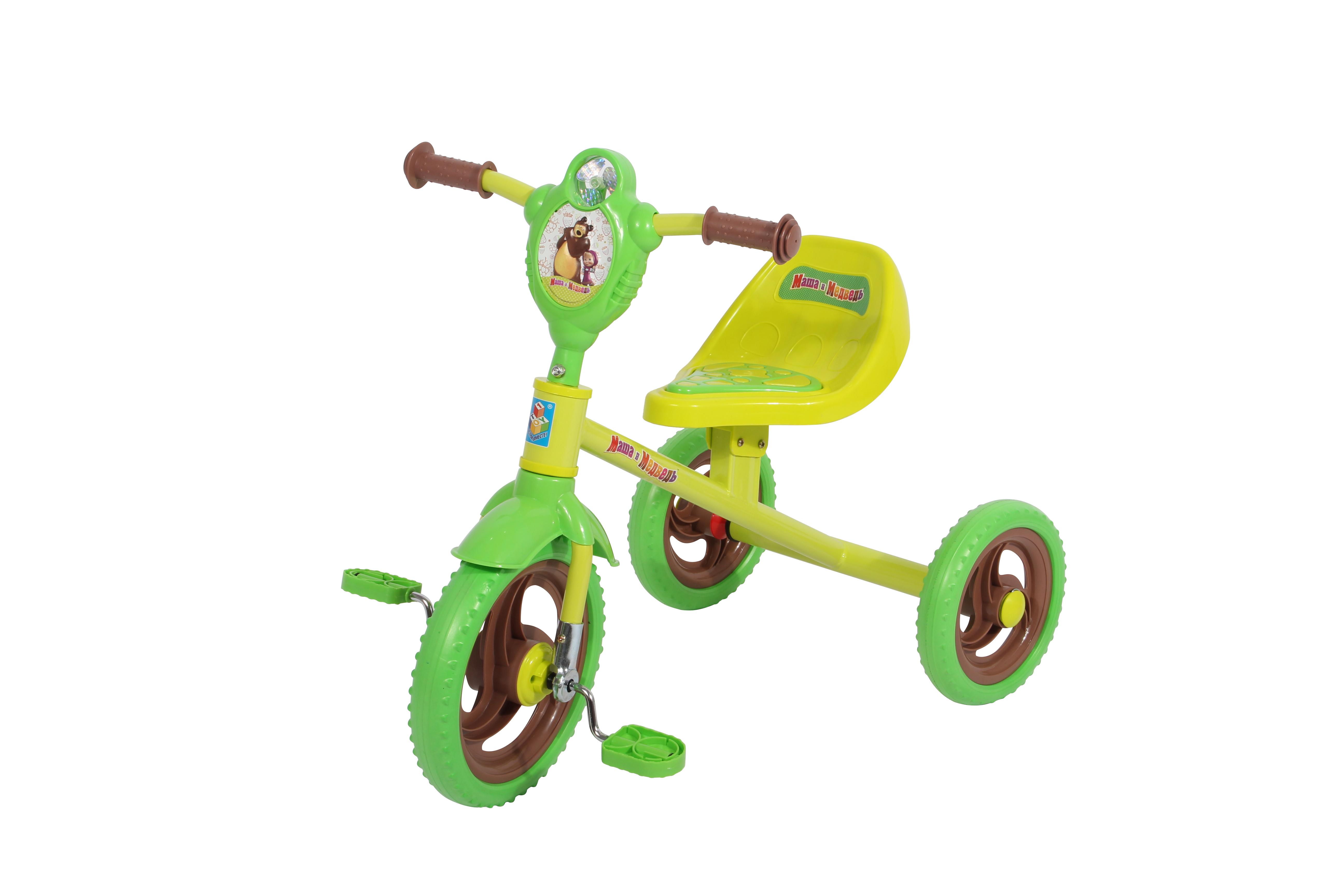 Велосипеды трехколесные 1toy Велосипед трехколесный 1Тoy «Маша и Медведь»