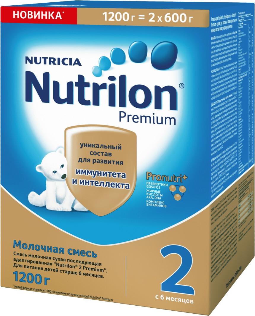 Сухие Nutrilon Молочная смесь Nutrilon 2 Premium с 6 мес. 2х600 г nutrilon 2 молочная смесь premium с 6 мес 800 г