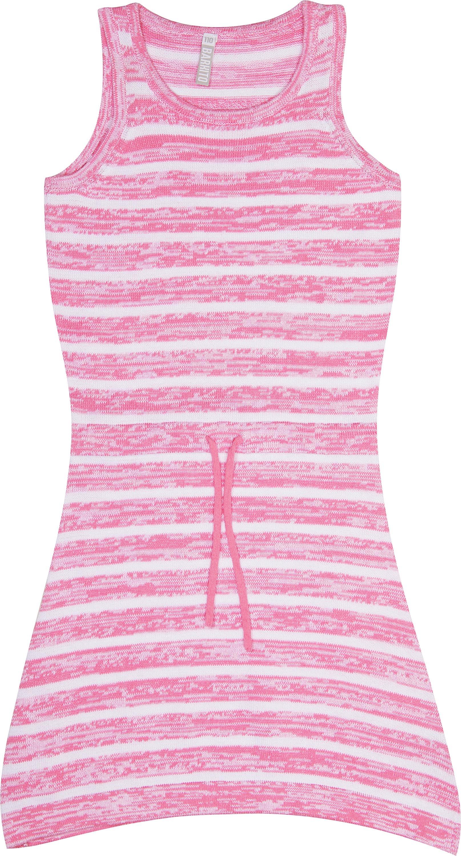 купить Платье детское Barkito Милитари розовое с рисунком в полоску недорого