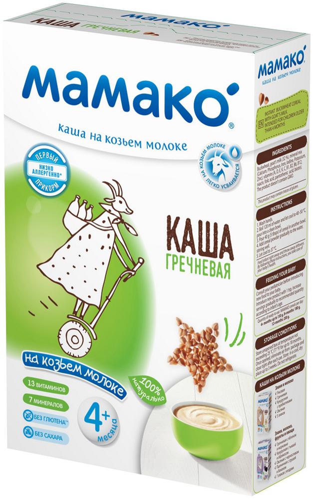 Каша МАМАКО' МАМАКО Молочная гречневая на козьем молоке (с 4 месяцев) 200 г каши мамако молочная гречневая каша с яблоком и морковью на козьем молоке с 4 мес 200 г