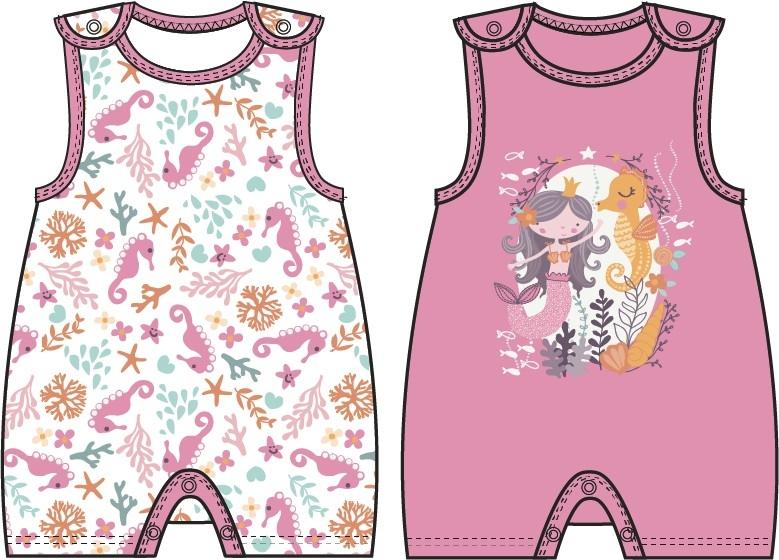 Купить Первые вещи новорожденного, Маленькая сирена, Barkito, Узбекистан, белый с рисунком, розовый, Женский