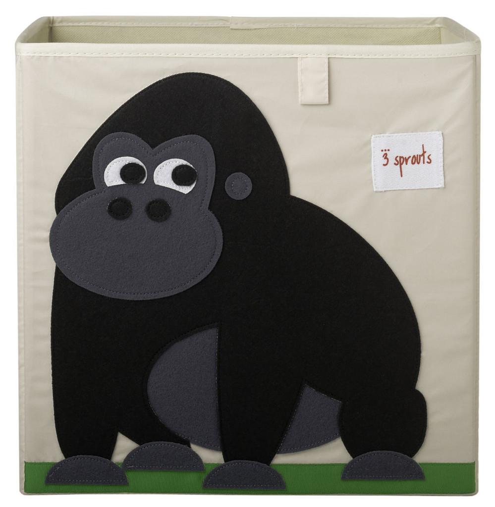 Ящики и корзины для игрушек 3 Sprouts «Black Gorilla» ящики и корзины для игрушек 3 sprouts orange orangutan