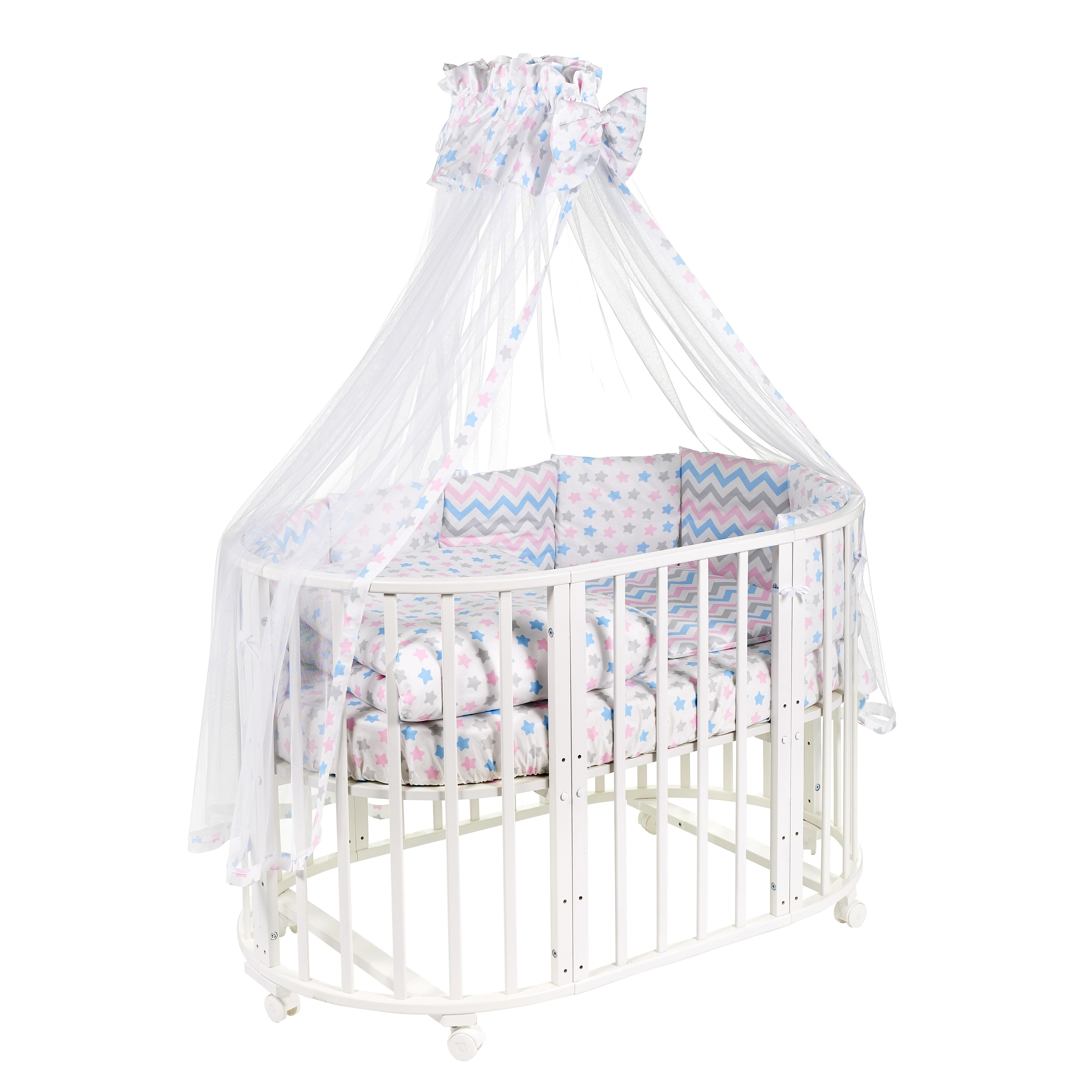 Постельные принадлежности Sweet Baby «Stellino Rosa» 8 предметов розовый поплин комплект в кроватку sweet baby stelle rosa розовый 7 предметов поплин