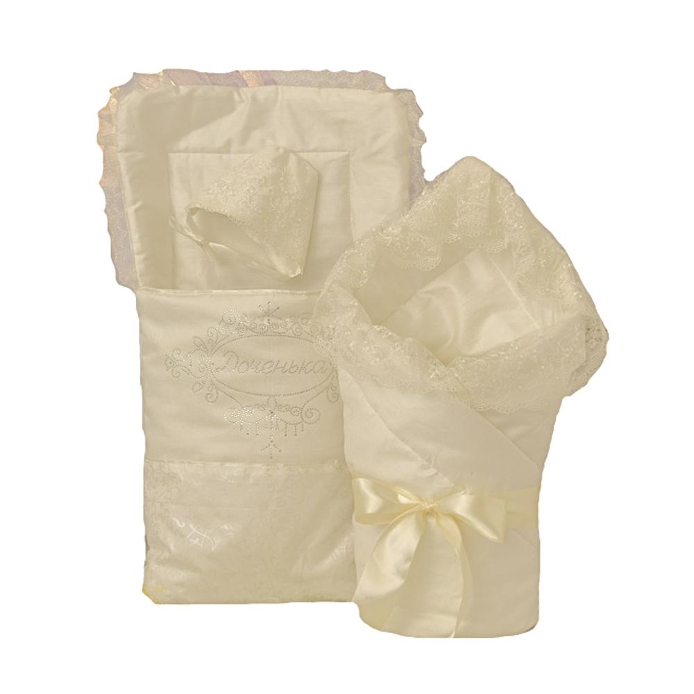 Комплекты на выписку Арго Комплект на выписку для девочки АРГО «Доченька», ванильный цена