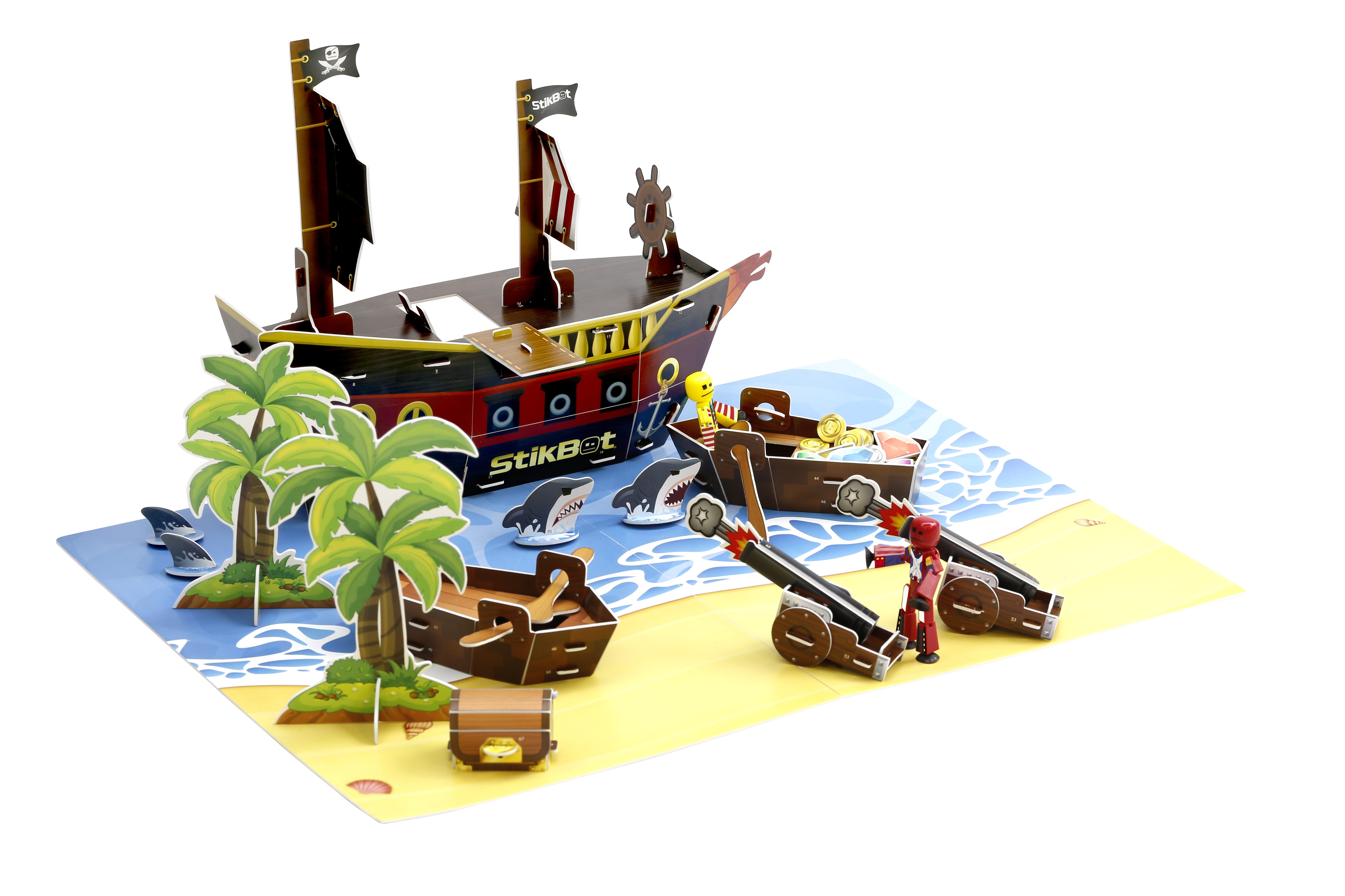 Игровой набор Stikbot Пиратский корабль игровой набор для ванны tomy пиратский корабль