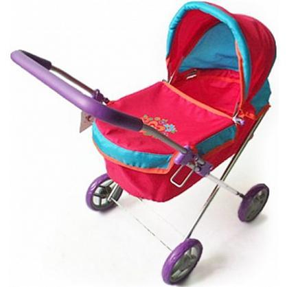 Коляска-люлька для куклы Наша игрушка Цветочек коляска для куклы lokotoys четырехколесная с поддоном красная