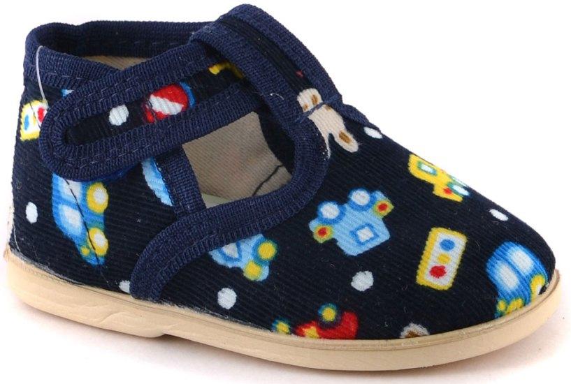 Тапочки Домашки Туфли для мальчика Домашки темно синие брюки темно синие 3pommes ут 00005348